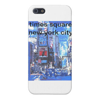 Vintage travel poster Times Square N Y City Case For iPhone SE/5/5s