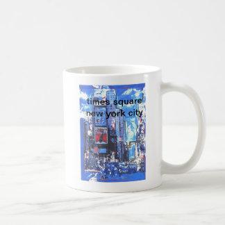 Vintage travel poster Times Square N Y City Coffee Mug