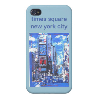 Vintage travel poster Times Square N Y City iPhone 4/4S Case