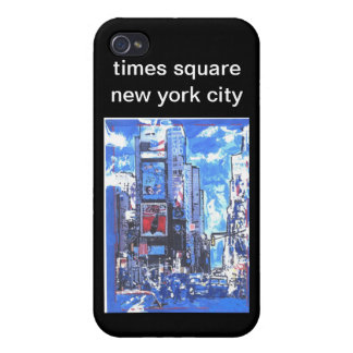 Vintage travel poster Times Square N Y City iPhone 4/4S Cases