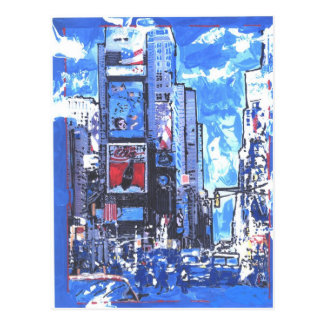 Vintage travel poster Times Square N Y City Postcard