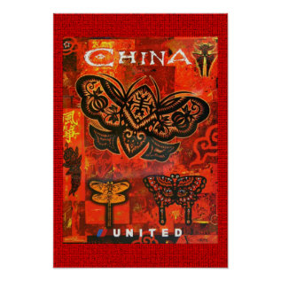 Vintage Travel Poster United China at Zazzle