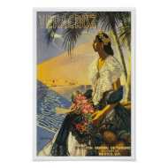 Vintage Travel Poster Veracruz