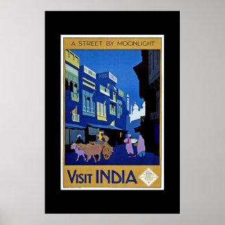 Vintage Travel Poster Visit India