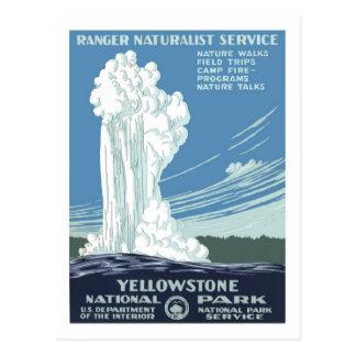Vintage Travel Poster,Yellowstone Postcard