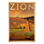 Vintage Travel Poster - Zion
