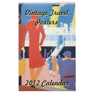 Vintage Travel Posters 2012 Calendar, Lg Artwork