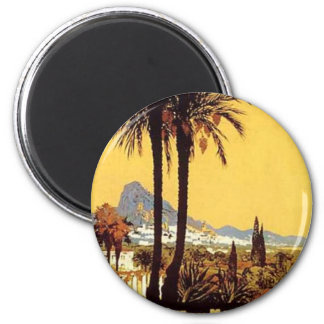 Vintage Travel Posters 2 Inch Round Magnet