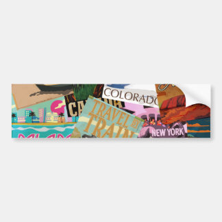 Vintage Travel Posters Bumper Sticker