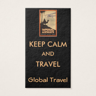VINTAGE TRAVEL POSTERS - BUSINESS CARD