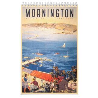 Vintage travel posters calendar