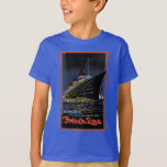 Vintage Travel Posters: French Line Normandie T-Shirt