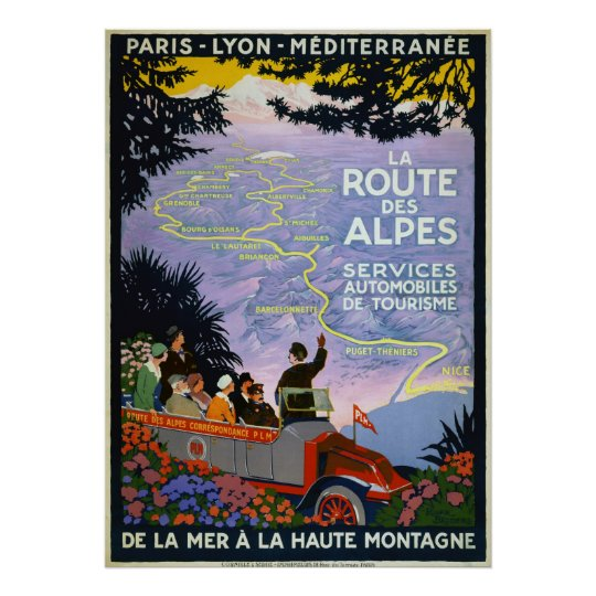Vintage Travel Posters - La Route des Alpes