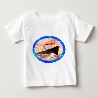 Vintage Travel Posters: Ocean Liner Baby T-Shirt