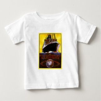 Vintage Travel Posters: World Tour Ocean Liner Baby T-Shirt