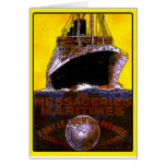 Vintage Travel Posters: World Tour Ocean Liner Card