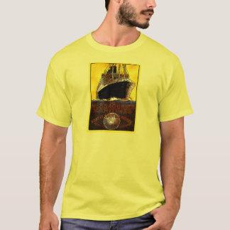 Vintage Travel Posters: World Tour Ocean Liner T-Shirt