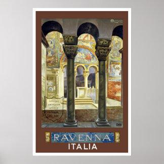 Vintage Travel Postr for Ravenna, Italy Poster
