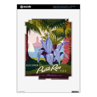 Vintage Travel Puerto Rico iPad 3 Skin