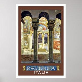 Vintage travel,Ravenna,Italy Poster