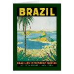 Vintage Travel Rio de Janeiro Brazil Coastal Beach Card