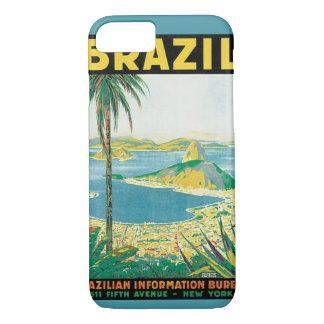 Vintage Travel Rio de Janeiro Brazil Coastal Beach iPhone 7 Case