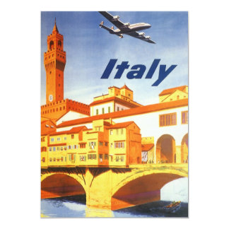 Vintage Travel, River in Florence Italy Invitation