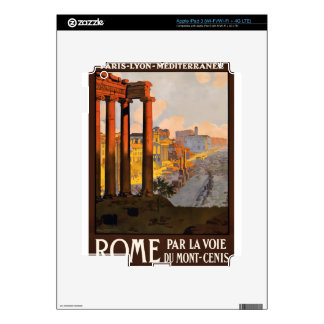 Vintage Travel Rome Italy 1920 Skin For iPad 3