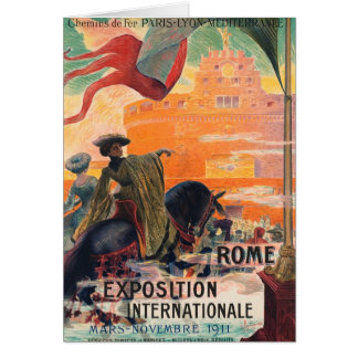 Vintage travel Rome Italy - Card