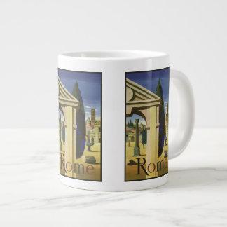 Vintage Travel Rome Italy mugs Jumbo Mug