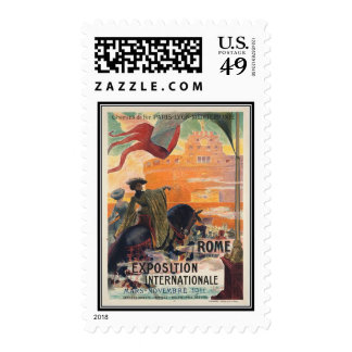 Vintage travel Rome Italy - Stamp
