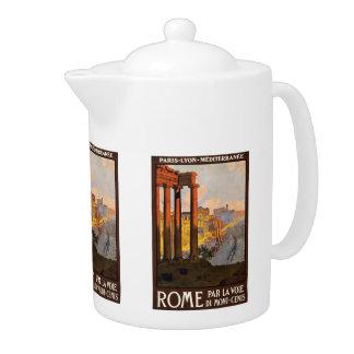 Vintage Travel Rome Italy teapot