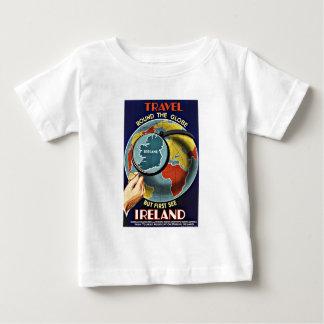 Vintage Travel Round the Globe See Ireland Baby T-Shirt