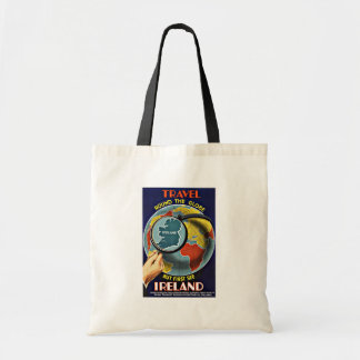 Vintage Travel Round the Globe See Ireland Budget Tote Bag
