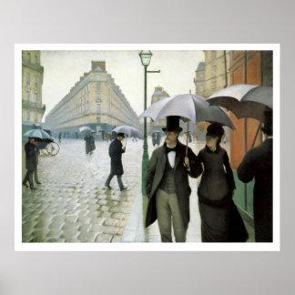 Vintage Travel Rue de Paris Print
