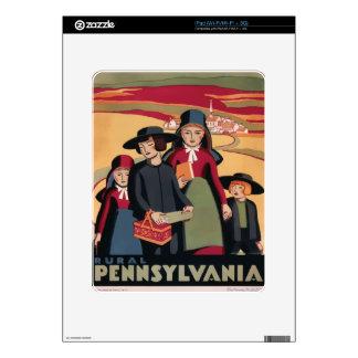 Vintage Travel Rural Pennsylvania Decals For iPad