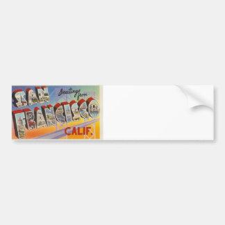 Vintage Travel San Francisco Car Bumper Sticker