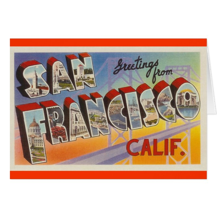 Vintage Travel San Francisco Card