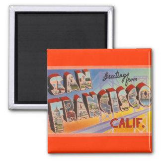 Vintage Travel San Francisco Magnet