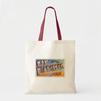 Vintage Travel San Francisco Tote Bag