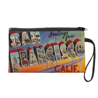 Vintage Travel San Francisco Wristlet Purse