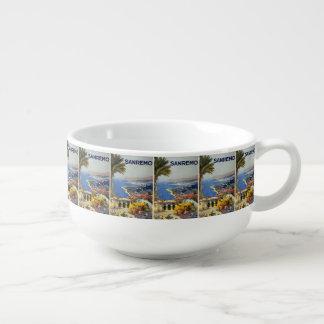 Vintage Travel Sanremo Italy soup mug