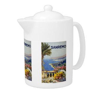 Vintage Travel Sanremo Italy teapot