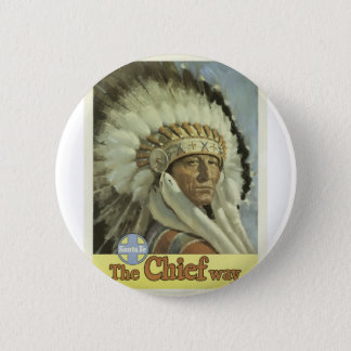 Vintage Travel Santa Fe New Mexico USA Pinback Button
