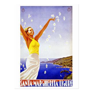 Vintage Travel Santa Margherita Ligure Italy Postcard