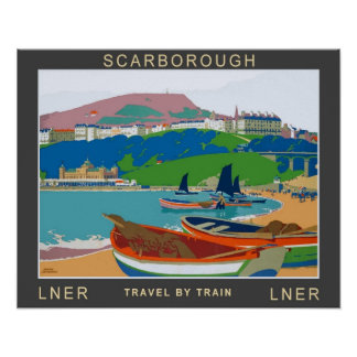 Vintage Travel,Scarborough Poster
