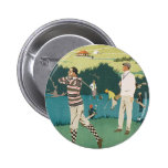 Vintage Travel Scotland Golf Golfing Golfers Sport Button