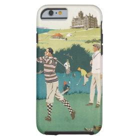 Vintage Travel Scotland Golf Golfing Golfers Sport Tough iPhone 6 Case