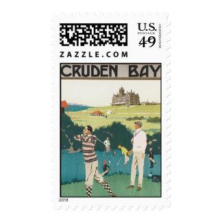Vintage Travel Scotland Golf Golfing Golfers Sport Postage