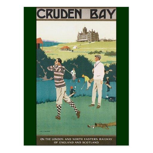Vintage Travel Scotland Golf Golfing Golfers Sport Postcard